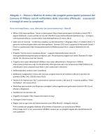 Allegato 1 – Elenco e Matrice di sintesi dei