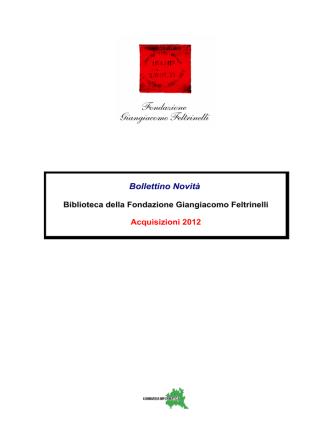 2012 Anno - Fondazione Giangiacomo Feltrinelli