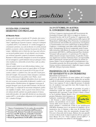 Age Newsletter settembre 2014
