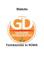 statuto gd roma - Giovani Democratici ROMA