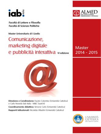 brochure 2014 - Almed - Università Cattolica del Sacro Cuore