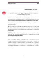 Il CdA di Meridiana S.p.A. approva il progetto di bilancio separato e