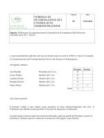 Definizione ed erogazione premio produttività Direzione Aziendale