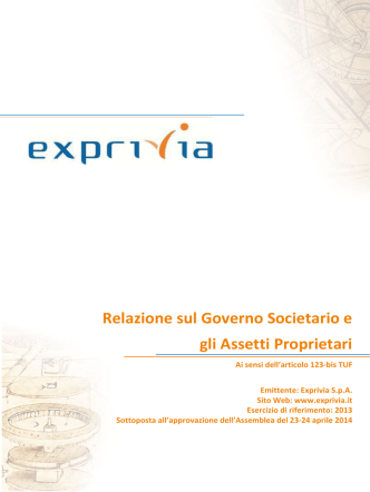 Corporate Governance e gli assetti proprietari 2014