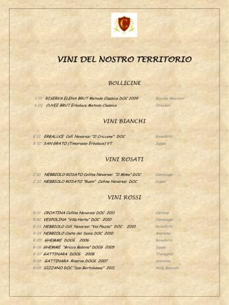 carta dei vini - Cortese Hotel