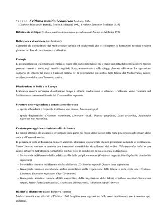 23.1.1 Crithmo maritimi-Staticion - prodromo della vegetazione d