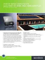 Inverter senza trasformatore serie SMA SB 3000-3600