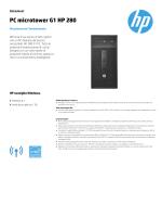 PC microtower G1 HP 280