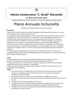 """Piano Annuale Inclusività - Istituto Comprensivo """"Ing.Carlo Stradi"""""""