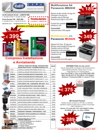 289 € 375 - Buffetti RHO / LAINATE (MI) Dapa Forniture e macchine