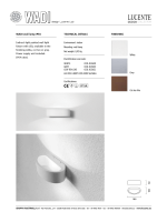 White WADI wall lamp IP54 TECHNICAL DETAIL