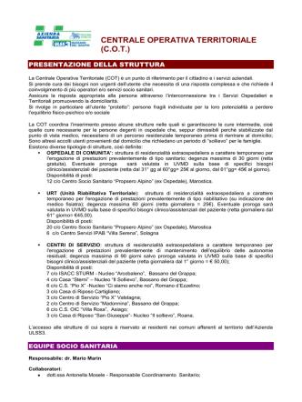 Centrale Operativa Territoriale COT nov. 2014