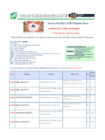 Elenco Centri Riferimento Lazio ordinato per Codice Patologia