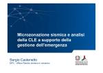 Microzonazione sismica e analisi della CLE a supporto della