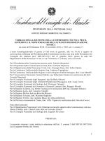 Verbale della Commissione Speciale sulla CLE