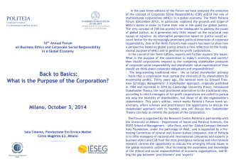 10° Annual Forum.indd - Global Compact Network Italia