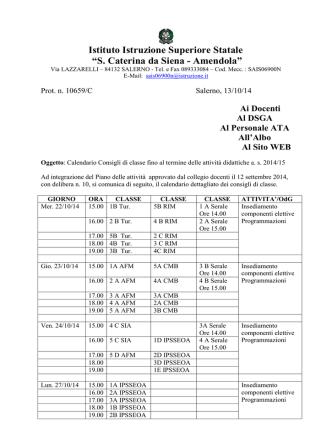 Calendario - santacaterina