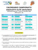 calendario campionato aquilotti elite