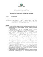 VISTI: - la Direttiva 91/676/CEE del Consiglio del 12 Dicembre 1991