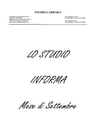 commenti - Studio Carrara s.r.l.