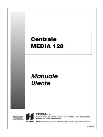 Centrale MEDIA 128 Manuale Utente