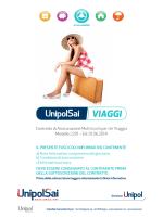 Contratto di Assicurazione Multirischi per chi Viaggia Modello 2201