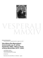 Vita di Maria (Das Marienleben) Ciclo di Lieder, op. 27, di