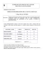 Approvazione Regolamento Comunale per il funzionamento del