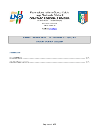 comunicati e circolari della lnd - FIGC Comitato Regionale Umbria