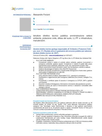 Alessandro Forzoni Istruttore direttivo tecnico pubblica