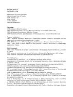 Giuliana Decorti Curriculum vitae - Tecniche della prevenzione nell