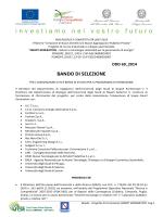 BANDO DI SELEZIONE - Università degli Studi di Napoli Federico II