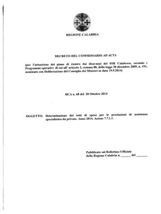 DCA n.68 del 20.10.2014-Determinazione dei
