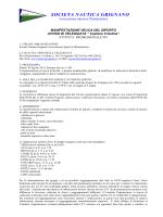 Avviso - Societa Nautica Grignano