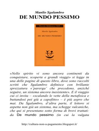 DE MUNDO PESSIMO
