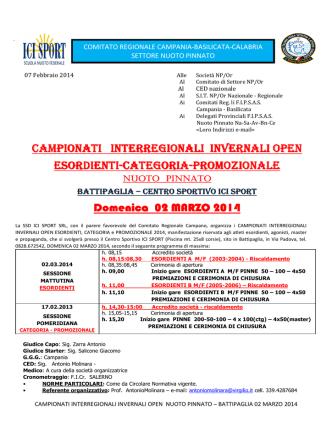 CIRCOLARE camp. regionale INVERNALE BATTIPAGLIA