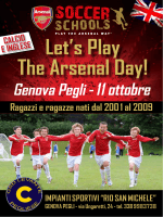volantino day camp - Arsenal Soccer Schools