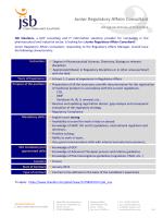 Junior Regulatory Affairs Consultant