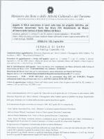 verbale - Direzione Regionale per i Beni Culturali e Paesaggistici