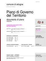 DP a - Relazione - Comune di Artogne