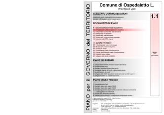 1.1 relazione del quadro conoscitivo e ricognitivo