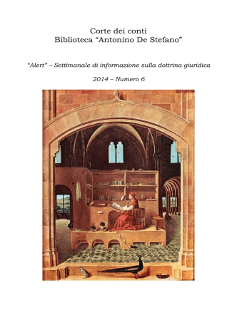 Alert - n. 6/2014 - Biblioteca della corte dei conti
