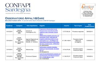 2014-10-08 Osservatorio Appalti e Gare CONFAPI Sardegna