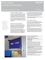Porta Veloce Crawford HS9050RSR