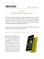 CES 2015 ARCHOS rafforza la sua gamma 4G!