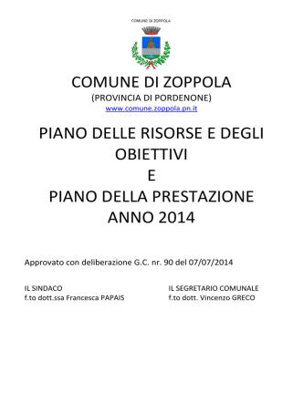 Allegato Sub A) - D.G.C. 90-2014