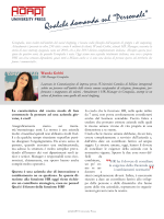 A colloquio con Intervista a Wanda Gobbi, HR Manager