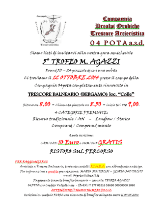 0 4 P O T A a.s.d. 5° TROFEO M. AGAZZI - FIARC