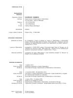 Curriculum - Dipartimento di Matematica e Informatica