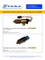 solenoidi arresto motore intercambiabili per jcb